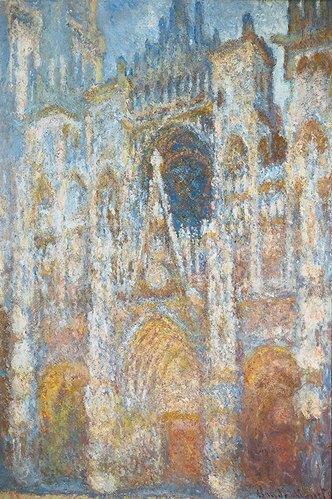 Claude Monet: Die Kathedrale von Rouen. Das Portal in der Morgensonne. Harmonie in blau. 1894.