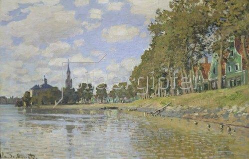 Claude Monet: Zaandam. 1871