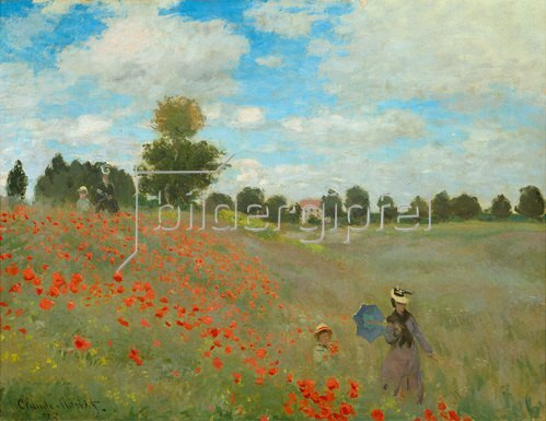 Claude Monet: Mohnfeld bei Argenteuil. 1873