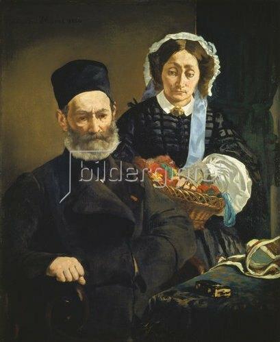 Edouard Manet: Monsieur und Madame Auguste Manet, die Eltern des Künstlers. 1860