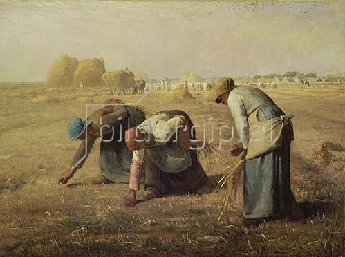 Jean-François Millet: Die Ährensammlerinnen (Les Glaneuses). 1857