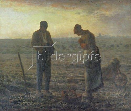 Jean-François Millet: Das Abendgebet (L'Angélus). 1857/59
