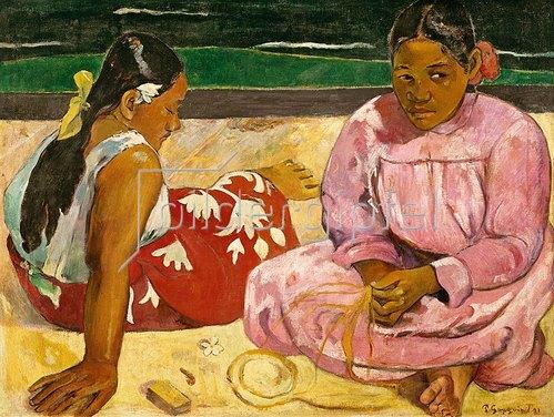 Paul Gauguin: Frauen von Tahiti (oder: Am Strand).1891
