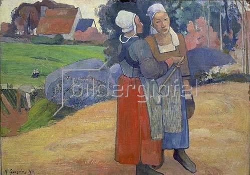 Paul Gauguin: Bretonische Bäuerinnen im Gespräch. 1894