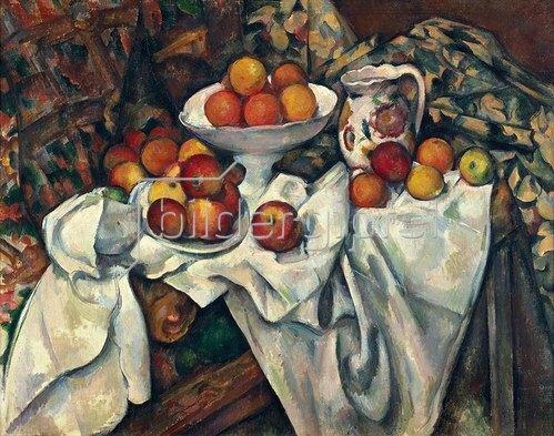 Paul Cézanne: Stilleben mit Äpfeln und Orangen. Um 1895/1900.