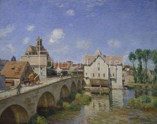 Alfred Sisley: Die Brücke von Moret. 1893.