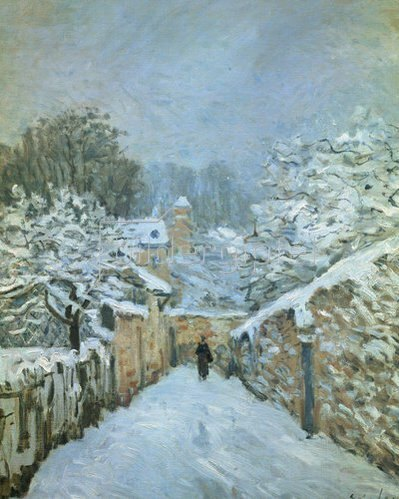Alfred Sisley: Louveciennes im Schnee. 1878