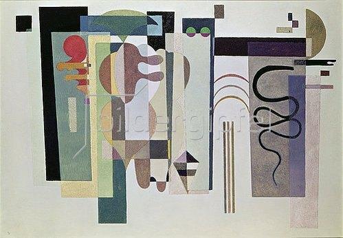 Wassily Kandinsky: Zwei grüne Punkte. 1935