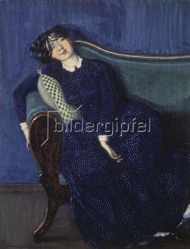 Konstantin Somow: Schlafende junge Frau.