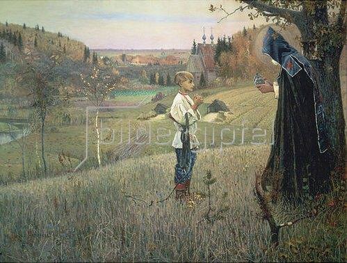 Michail Wassiljew Nesterow: Die Vision des jungen Bartholomäus. 1889/1890.