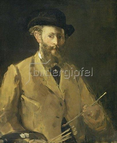 Edouard Manet: Selbstbildnis mit Palette.