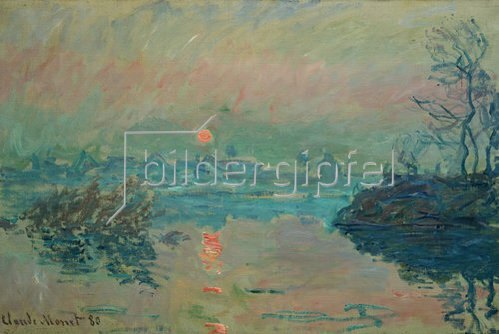 Claude Monet: Untergehende Sonne. 1880.