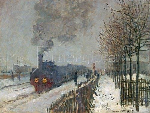 Claude Monet: Der Zug im Schnee (oder: Die Lokomotive) 1875.