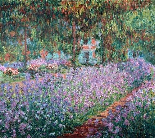 Claude Monet: Blühende Iris in Monets Garten. 1900