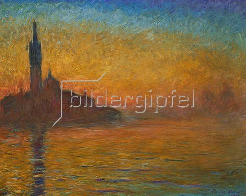 Claude Monet: Venedig bei Sonnenuntergang. 1908