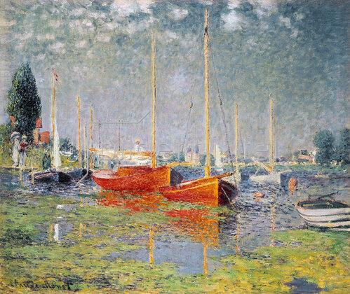 Claude Monet: Die roten Boote, Argenteuil. 1875
