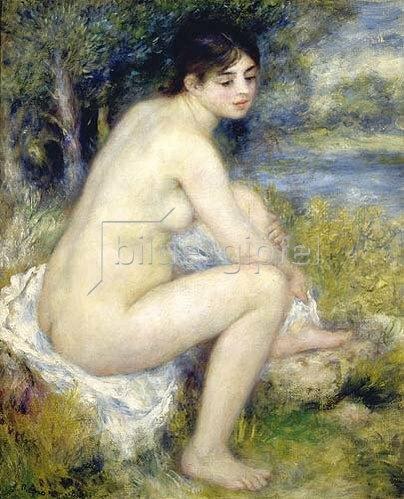 Auguste Renoir: Badende, sich den Fuss abtrocknend. 1883