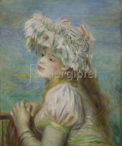 Auguste Renoir: Junge Frau mit einem Hut aus Spitzen. 1891
