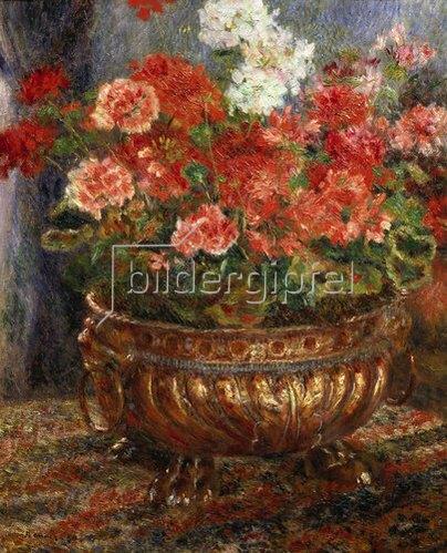 Auguste Renoir: Blumenstilleben in Messinggefäss. 1880.