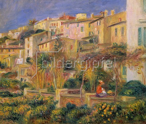 Auguste Renoir: Terrasse in Cagnes. 1905.