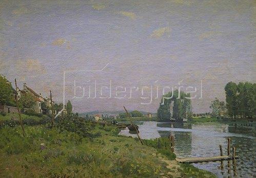 Alfred Sisley: Der Kanal Saint-Martin. 1872