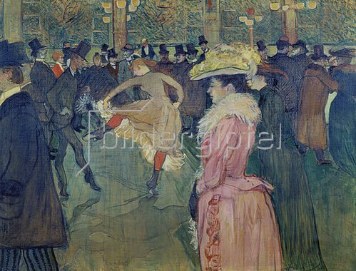 Henri de Toulouse-Lautrec: Ball im Moulin Rouge. 1889/1890.