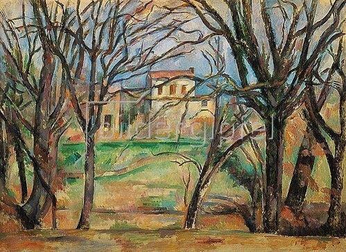 Paul Cézanne: Häuser und Bäume.
