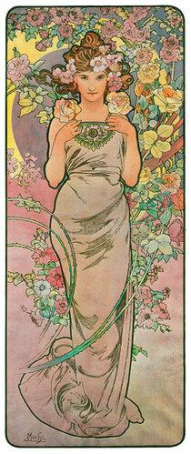 Alfons Mucha: Die Rose. 1898.