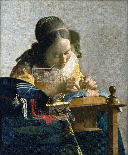 Jan Vermeer van Delft: Die Spitzenklöpplerin. Um 1665