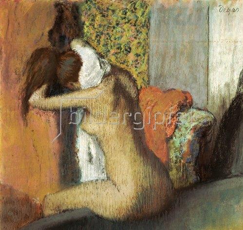 Edgar Degas: Frau nach dem Bade, sich den Nacken abtrocknend. 1898