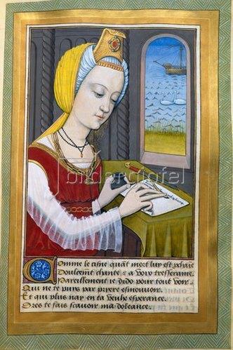 französisch Handschrift: von Robinet Testard für Louise von Savoyen. Dido schreibt an Aeneas.