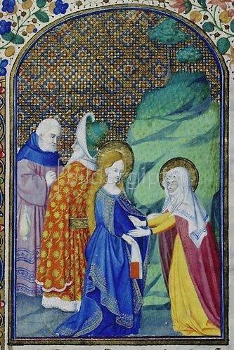 französisch Handschrift: Heimsuchung Mariae. Aus Heures de Louis de Savoie.