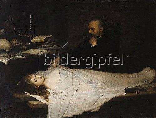 Gabriel von Max: Der Anatom. 1869