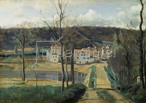 Jean-Baptiste Camille Corot: Ville-d'Avray (Les maisons Cabassud).