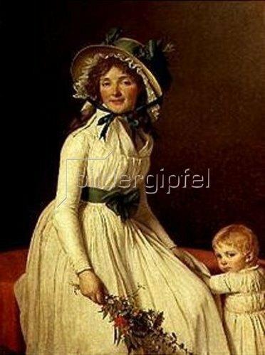 Jacques Louis David: Bildnis der Madame Sérizat mit ihrem Sohn.