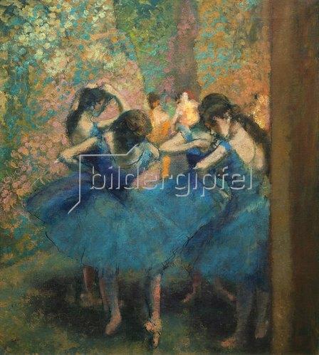 Edgar Degas: Die blauen Tänzerinnen. Gegen 1893