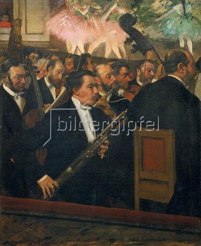 Edgar Degas: Das Orchester der Oper. Gegen 1870