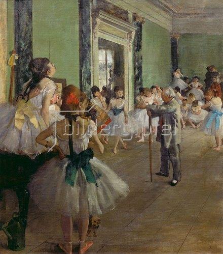 Edgar Degas: Die Tanzklasse. Gegen 1873/1876.