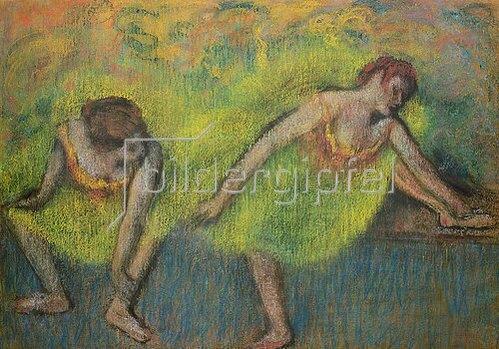 Edgar Degas: Zwei ausruhende Tänzerinnen.