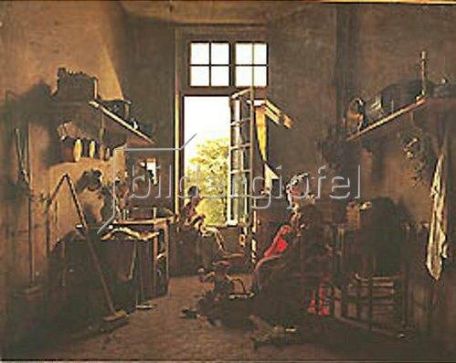 Martin Drölling: Inneres einer Küche.