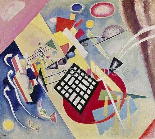 Wassily Kandinsky: Mit dem schwarzen Raster. 1922