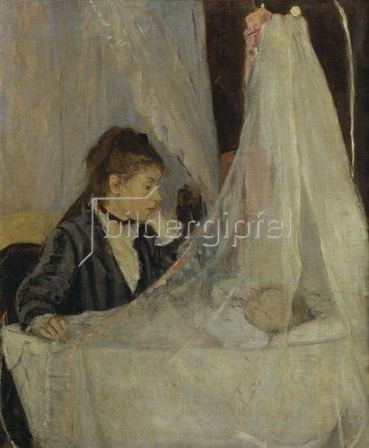 Berthe Morisot: Die Schwester der Künstlerin an der Wiege ihrer Tochter Blanche. 1872