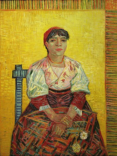 Vincent van Gogh: Die Italienerin (Agostina Segatori).1887