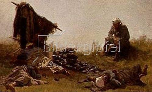 Konstantin A Sawizki: Erholungspause nach der Arbeit. 1875.