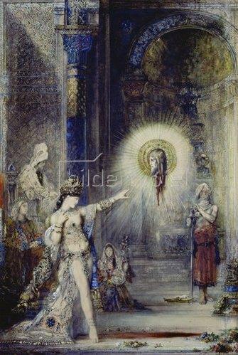 Gustave Moreau: Die Erscheinung. Entwurf.