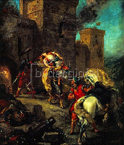 Eugene Delacroix: Die Entführung der Rebecca. 1859.
