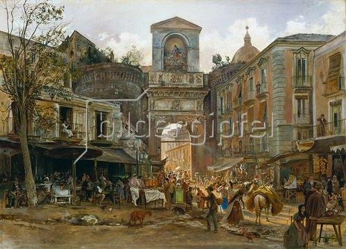 Rudolf von Alt: Porta Capuana in Neapel. Um 1868