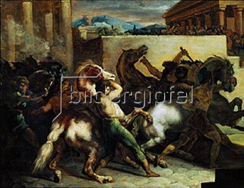 Théodore Géricault: Wilde Pferde bei einem Rennen in Rom. 1817.