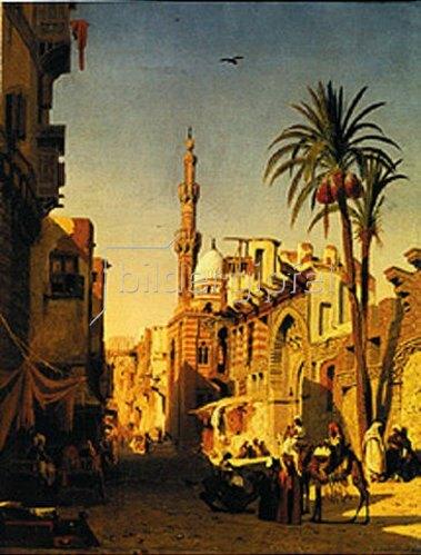 Prosper Marilhat: Strassen-Szene in Kairo. 1833.