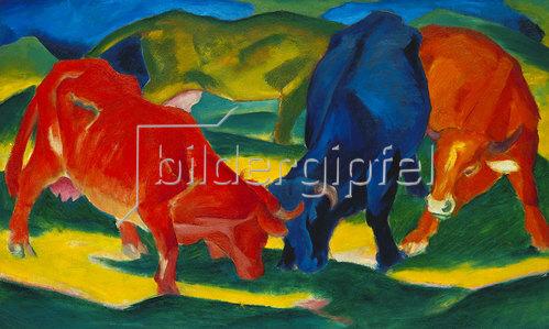 Franz Marc: Kämpfende Kühe. 1911